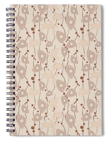 Swimming Turtles Spiral Notebook