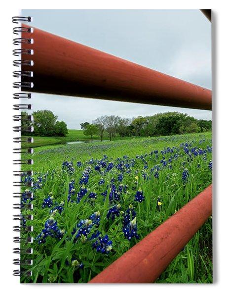 Texas Bluebonnets In Ennis Spiral Notebook