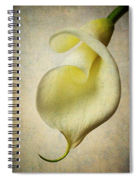Textured Calla Spiral Notebook
