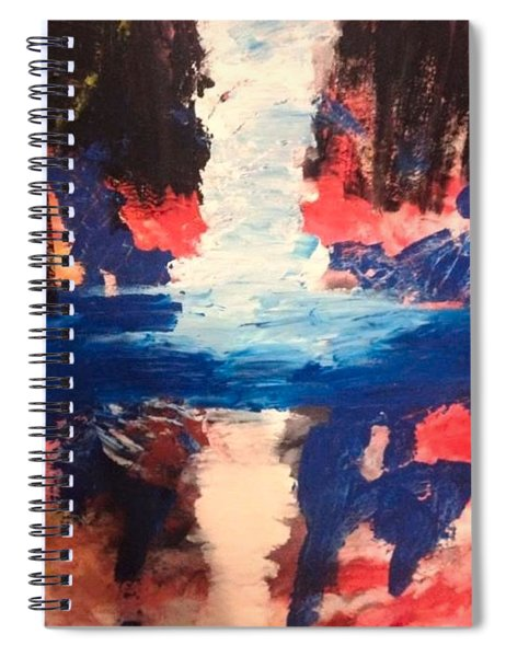 Spiral Notebook featuring the painting The Band  by Samimah Houston