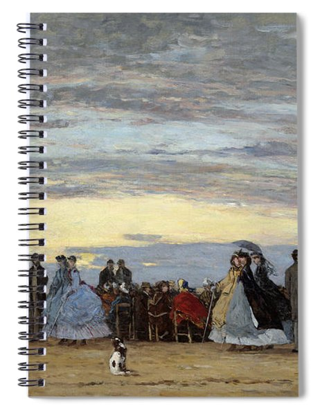 The Beach At Villerville Spiral Notebook