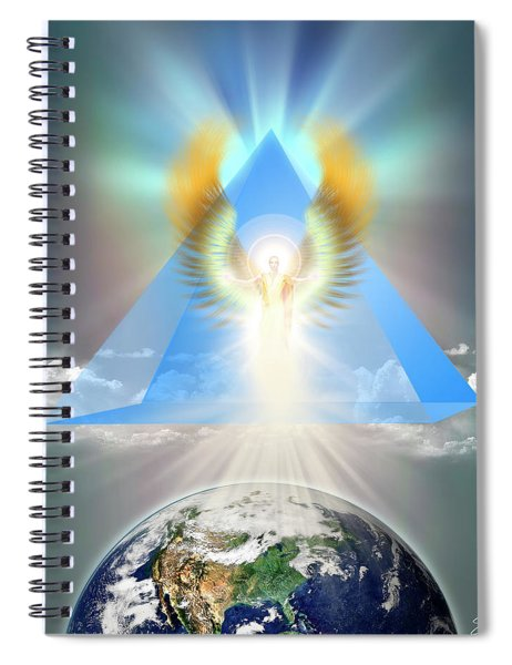 The Blue Pyramid Of Protection Spiral Notebook