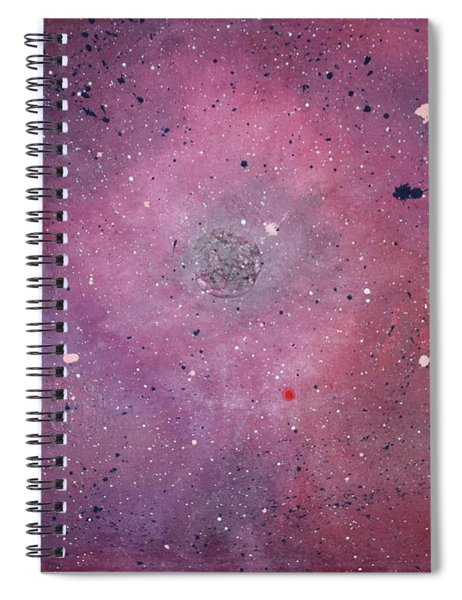 Spiral Notebook featuring the painting the Calm by Michael Lucarelli