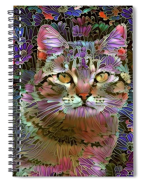 The Cat Who Loved Flowers 2 Spiral Notebook