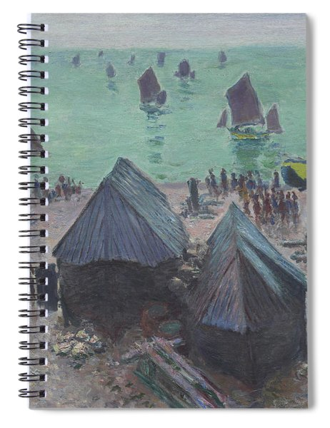 The Departure Of The Boats  Etretat Spiral Notebook