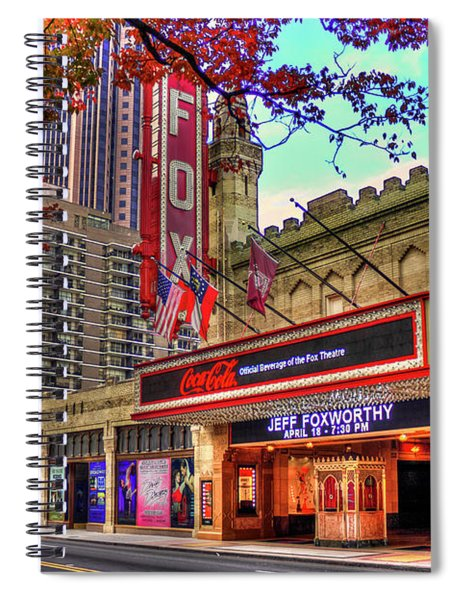 The Fabulous Fox Theatre Atlanta Georgia Art Spiral Notebook