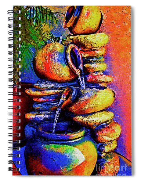 The Fountain Of Pots Spiral Notebook