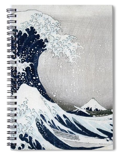 The Great Wave Of Kanagawa Spiral Notebook