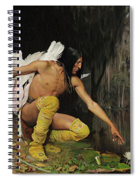 The Indian And The Lily Spiral Notebook
