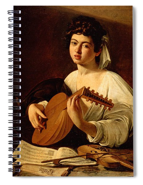 The Lute-player Spiral Notebook