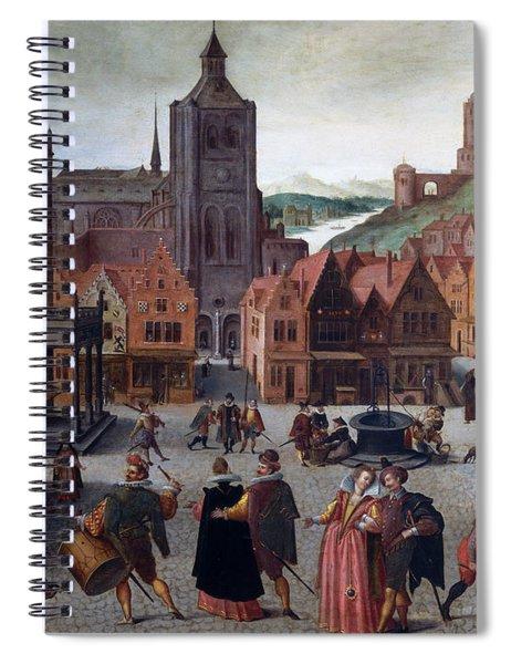 The Marketplace In Bergen Op Zoom Spiral Notebook