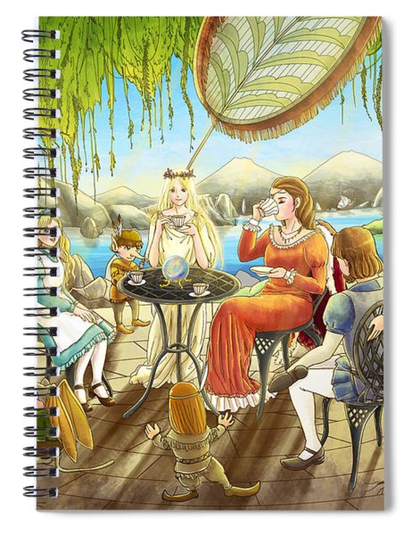 The Palace Garden Tea Party Spiral Notebook
