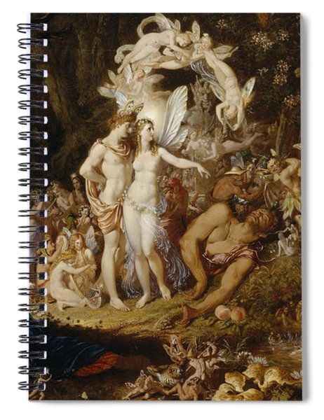 The Reconciliation Of Oberon And Titania Spiral Notebook