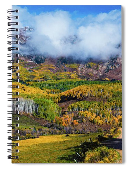 The Road To The Elk Mountains Spiral Notebook