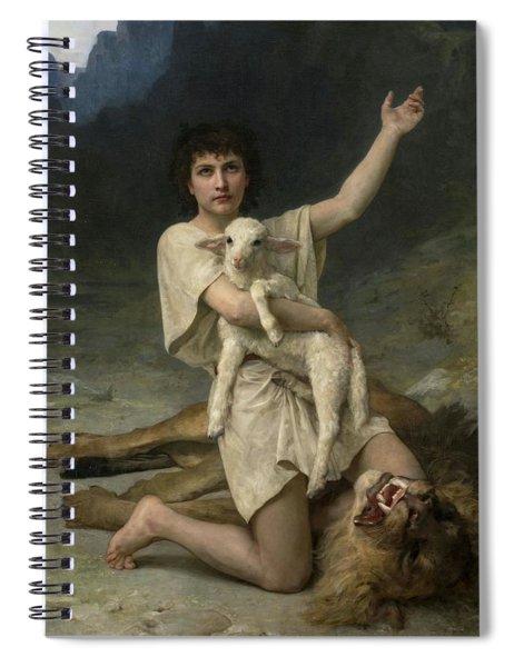 The Shepherd David Triumphant Spiral Notebook