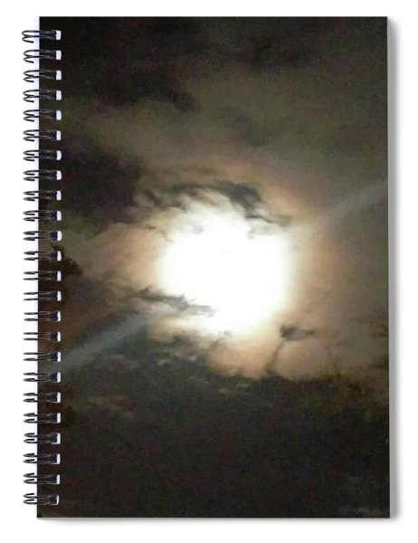 The Shining From Above.#moonlight Spiral Notebook
