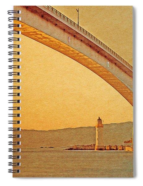 The Skye Bridge And Kyleakin Lighthouse Spiral Notebook
