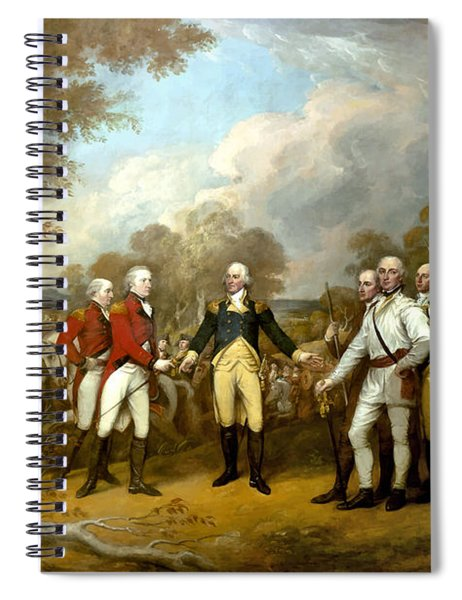 The Surrender Of General Burgoyne Spiral Notebook by War Is Hell Store