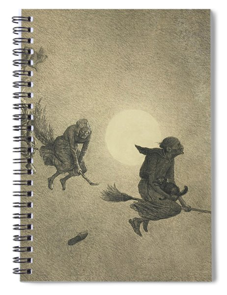 The Witches' Ride Spiral Notebook