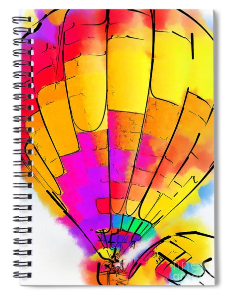 The Yellow And Red Balloon Spiral Notebook