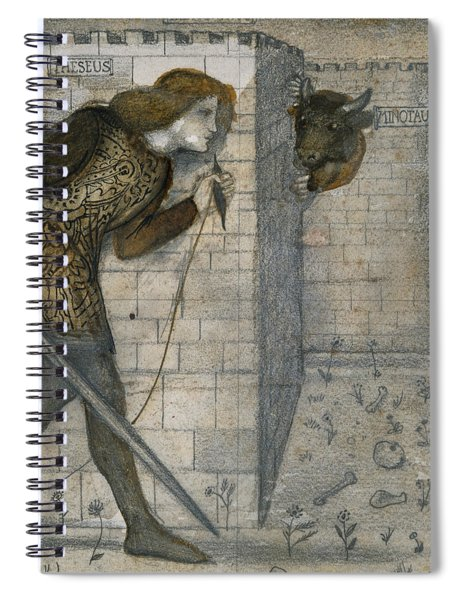 Theseus And The Minotaur In The Labyrinth Spiral Notebook