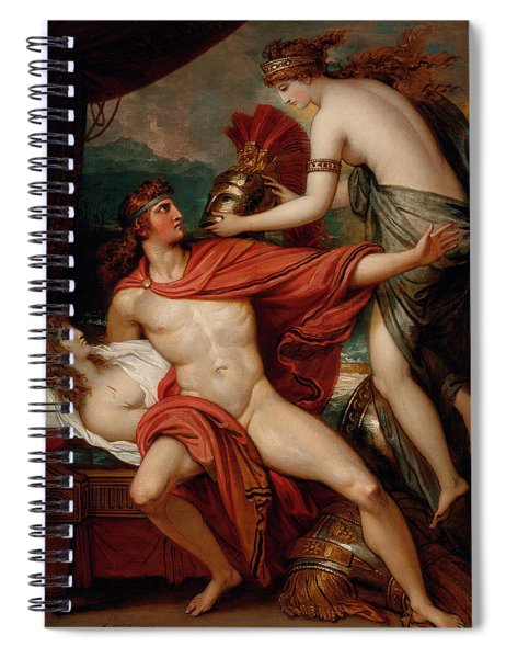 Thetis Bringing The Armor To Achilles Spiral Notebook