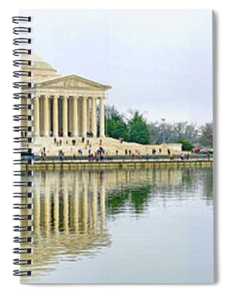 Tidal Basin With Cherry Blossoms Spiral Notebook