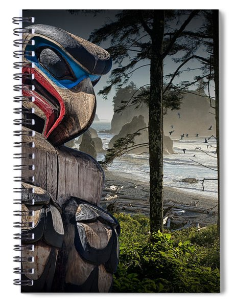 Totem Pole In The Pacific Northwest Spiral Notebook