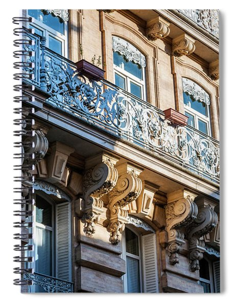 Toulouse Facade Spiral Notebook