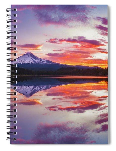 Trillium Lake Sunrise Spiral Notebook