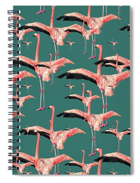 Tropical Flamingo  Spiral Notebook