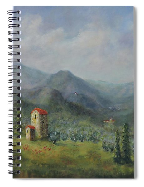 Tuscany Italy Olive Groves Spiral Notebook