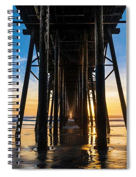 Under The Oceanside Pier Spiral Notebook