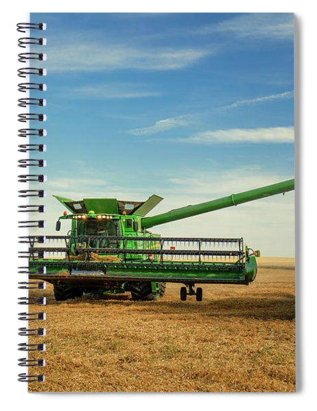 Unloading Chickpeas Spiral Notebook