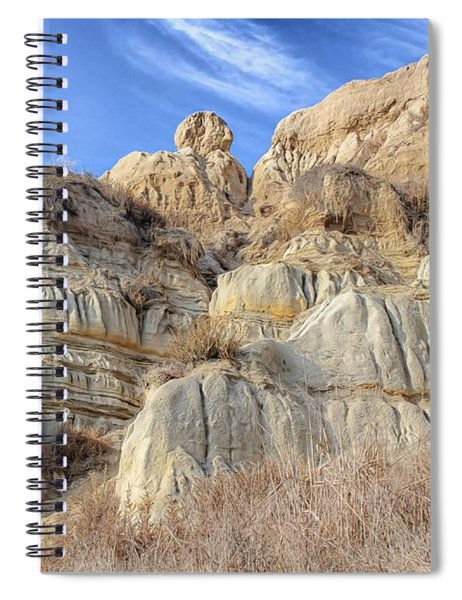 Spiral Notebook featuring the photograph Unstable Cliffs by Alison Frank