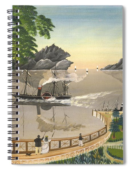 U S Mail Boat Spiral Notebook