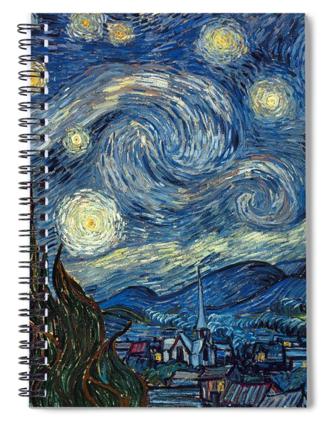 Van Gogh Starry Night Spiral Notebook