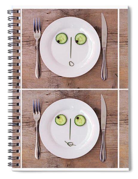 Vegetable Faces Spiral Notebook