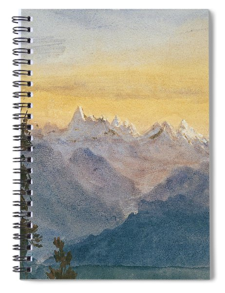 View From Mount Pilatus Spiral Notebook