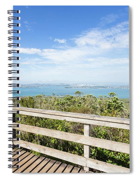 View From Rangitoto Island Over Auckland In New Zealand Spiral Notebook