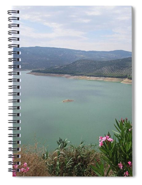 View Of The Lake In Iznajar Spiral Notebook
