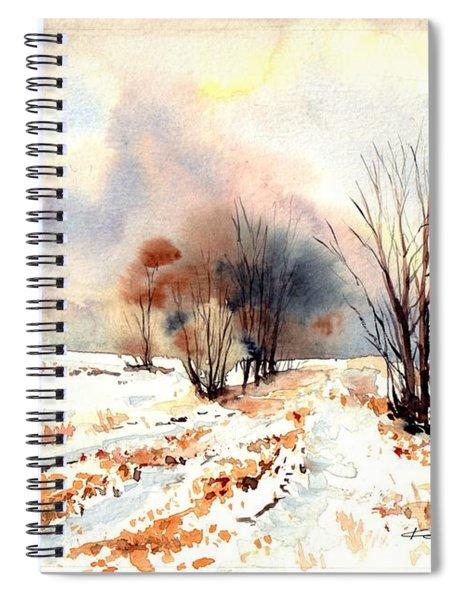 Village Scene Iv Spiral Notebook