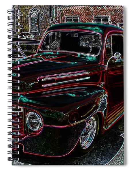 Vintage Chevy Truck Neon Art Spiral Notebook