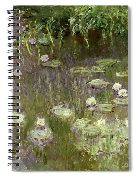 Waterlilies At Midday Spiral Notebook