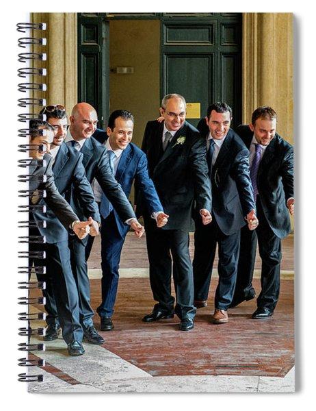 Wedding Men Spiral Notebook