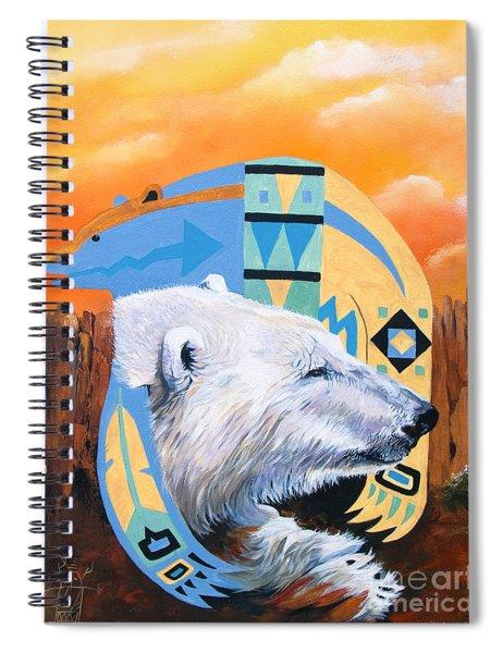White Bear Goes Southwest Spiral Notebook
