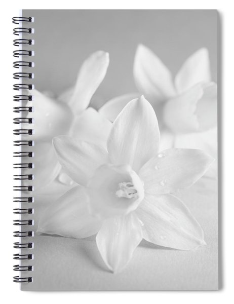 White Mini Narcissus 3 Spiral Notebook