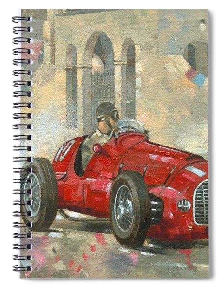 Whitehead's Ferrari Passing The Pavillion - Jersey Spiral Notebook