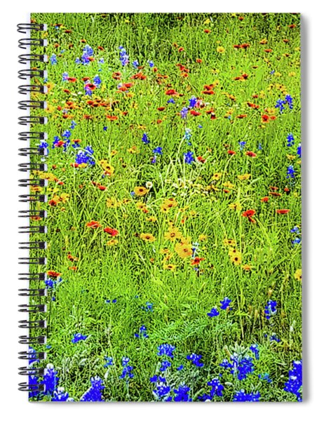 Wildflowers In Bloom Spiral Notebook