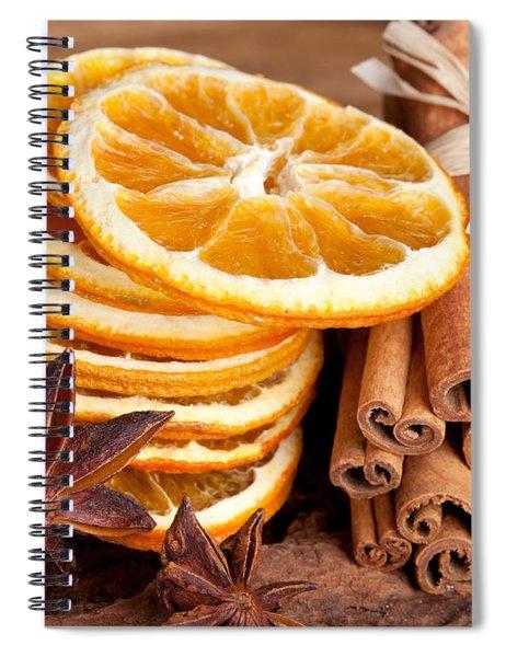 Winter Spices Spiral Notebook